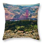 Golden Gate Bridge - Twin Peaks Throw Pillow
