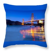 Golden Gate Dreams Throw Pillow