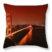 Golden Gate Evening Throw Pillow