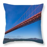 Golden Gate From The Bay Throw Pillow