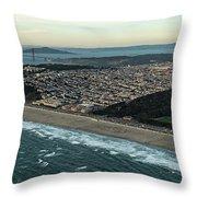 Golden Gate Park And Ocean Beach In San Francisco Throw Pillow