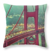 Golden Gate Portrait Throw Pillow