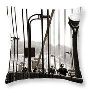 Golden Gate Suspension Throw Pillow