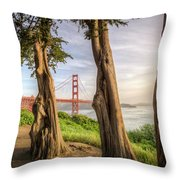 The Trees Of The Golden Gate Throw Pillow