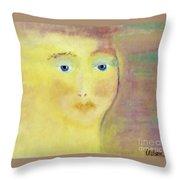 Golden Girl Throw Pillow by Kim Nelson