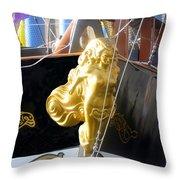 Golden Girl Of Gasparilla Throw Pillow
