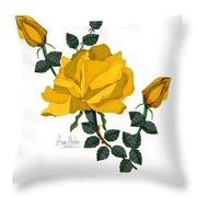 Golden Glory Throw Pillow