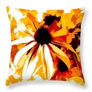 Golden Glow Of Summer Throw Pillow