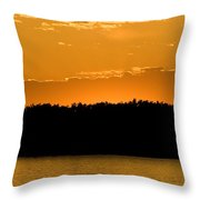 Golden Glow Sunset Throw Pillow