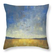 Golden Glow Throw Pillow