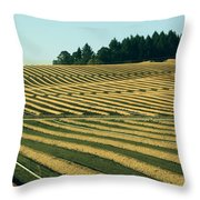 Golden Green Throw Pillow