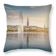 Golden Hamburg Throw Pillow