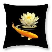 Golden Harmony Square Throw Pillow