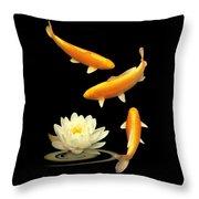 Golden Harmony Vertical Throw Pillow
