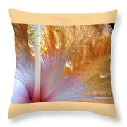 Golden Hibiscus Throw Pillow