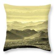 Golden Hills Of The Tonto Throw Pillow