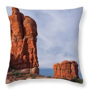 Golden Hoodoos Arches Np Throw Pillow