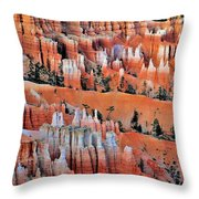 Golden Hour At Bryce Canyon 3 Throw Pillow
