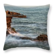 Golden Hour At Sunset Cliffs Throw Pillow