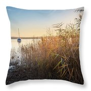 Golden Hour At The Lake Throw Pillow