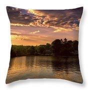 Golden Hour In New England Throw Pillow