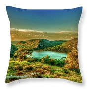 Golden Hour North Point Throw Pillow