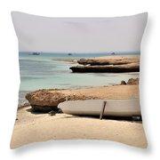 Golden Island Throw Pillow