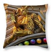 Golden Jester Throw Pillow
