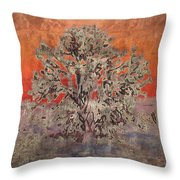 Golden Joshua Tree Throw Pillow