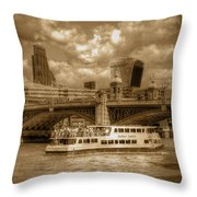 Golden Jubilee Party Boat Throw Pillow