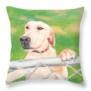 Golden Lab Wally Throw Pillow