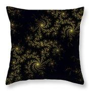 Golden Lace On Black Velvet Throw Pillow
