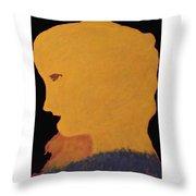 Golden Lady   -036 Throw Pillow