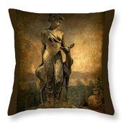 Golden Lady Throw Pillow