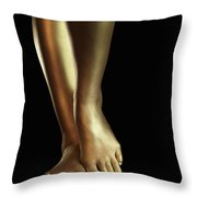 Golden Legs Throw Pillow
