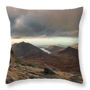 Golden Light Breaking On Slieve Bearnagh  Throw Pillow