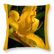 Golden Lily Watercolor Throw Pillow