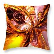 Golden Maelstrom Abstract Throw Pillow