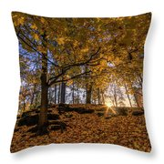 Golden Manito Throw Pillow