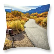 Golden Moments In Mammoth Throw Pillow