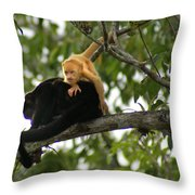 Golden Monkey Throw Pillow