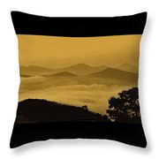 Golden Morning Above The Clouds Throw Pillow