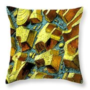 Golden Musselburgh II Throw Pillow