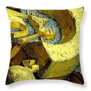 Golden Musselburgh IIi Throw Pillow