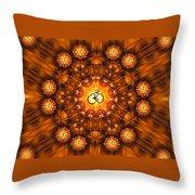 Golden Om Fracdala Throw Pillow