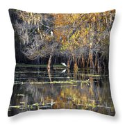 Golden On The River Throw Pillow