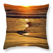 Golden Pacific Sunset Throw Pillow