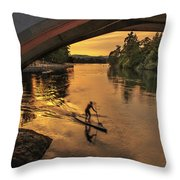 Golden Paddler Throw Pillow