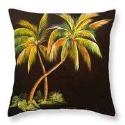 Golden Palms 2 Throw Pillow
