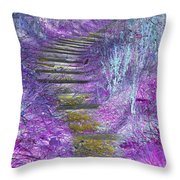 Golden Path Down To Rosslyn Glen Throw Pillow